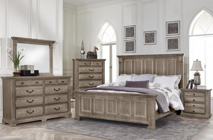 Woodlands Driftwood Mansion Bedroom Set