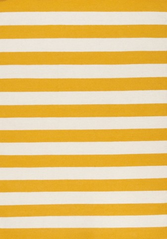 Wool Dhurry Yellow Stripe Rug