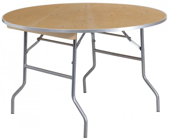 "48"" Round Heavy Duty Birchwood Folding Banquet Table"
