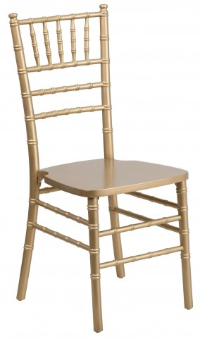 Flash Elegance Gold Wood Chiavari Chair