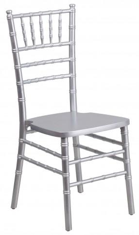 Flash Elegance Silver Wood Chiavari Chair