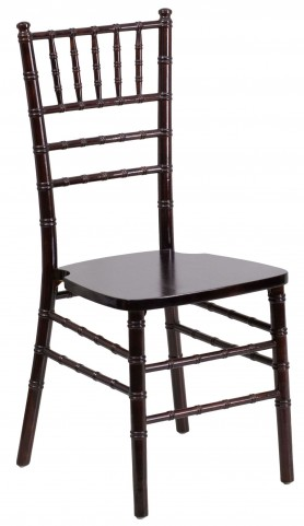 Flash Elegance Walnut Wood Chiavari Chair
