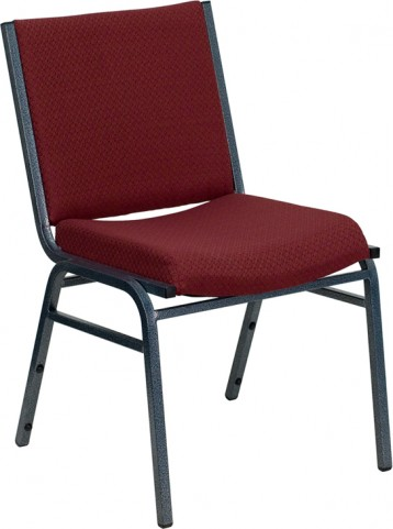 Hercules Heavy Duty 3'' Padded Burgundy Patterned Stack Chair