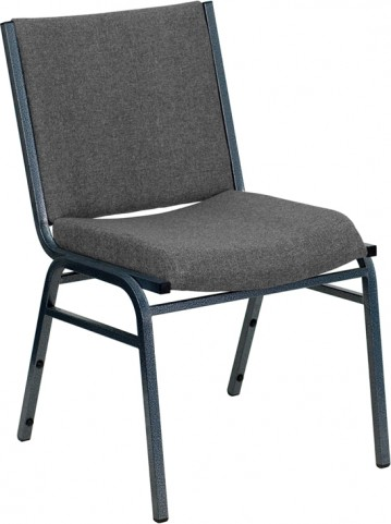 Hercules Heavy Duty 3'' Padded Gray Patterned Upholstered Stack Chair