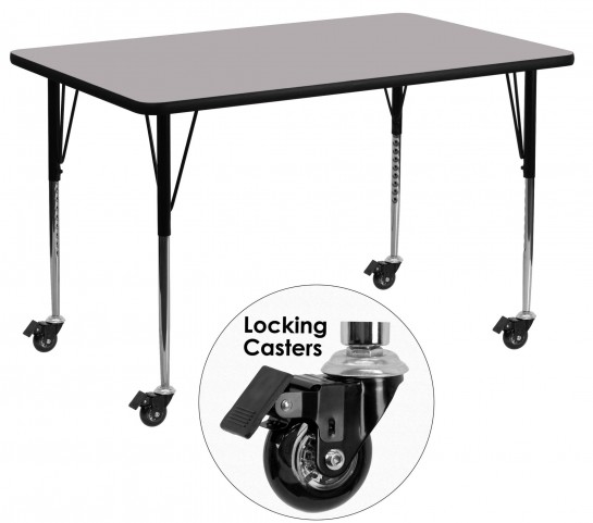 "Mobile 24"" Rectangular Gray Activity Table"