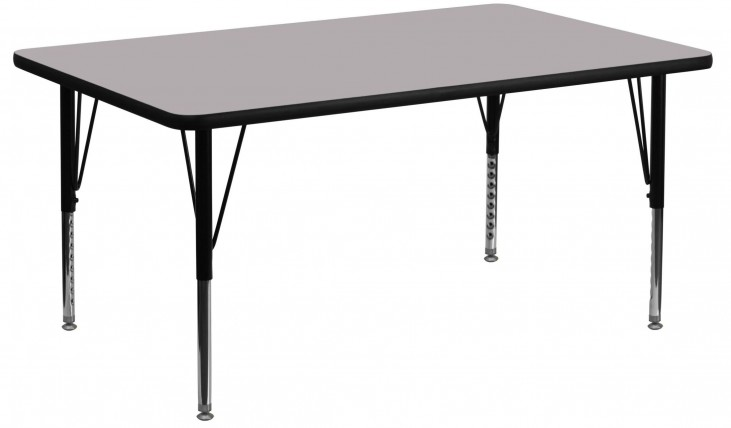 "24"" Rectangular Pre-School Gray Activity Table"