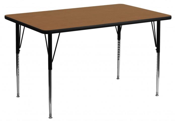 "24"" Rectangular Oak Activity Table"