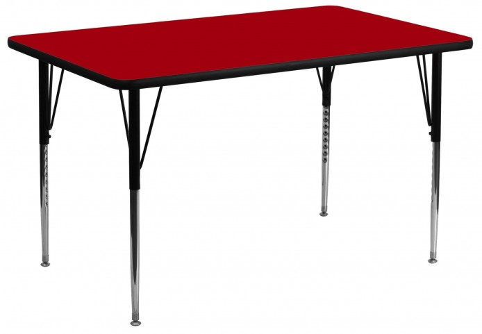 "24"" Rectangular Red Activity Table"