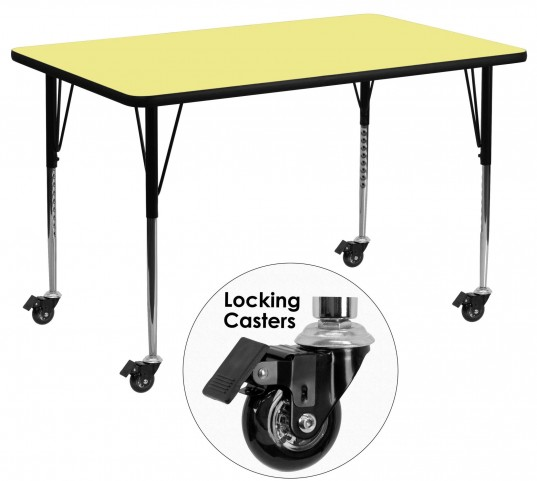 "Mobile 24"" Rectangular Yellow Activity Table"