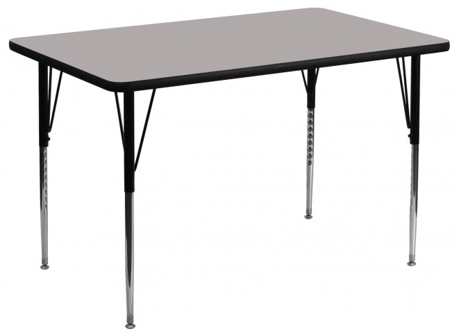 "48""L Rectangular Adjustable Height Gray Activity Table"