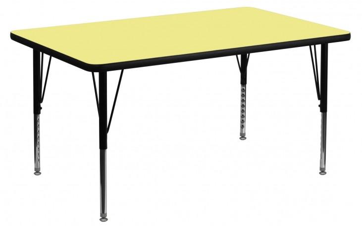 "48""L Rectangular Pre-School Yellow Activity Table"