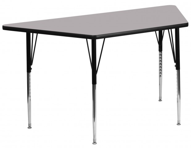 "30""W x 60""L Trapezoid Gray Activity Table"