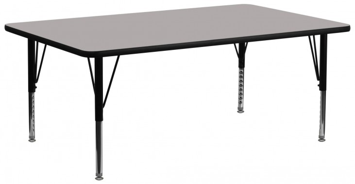 "30""W Rectangular Pre-School Adjustable Height Gray Activity Table"