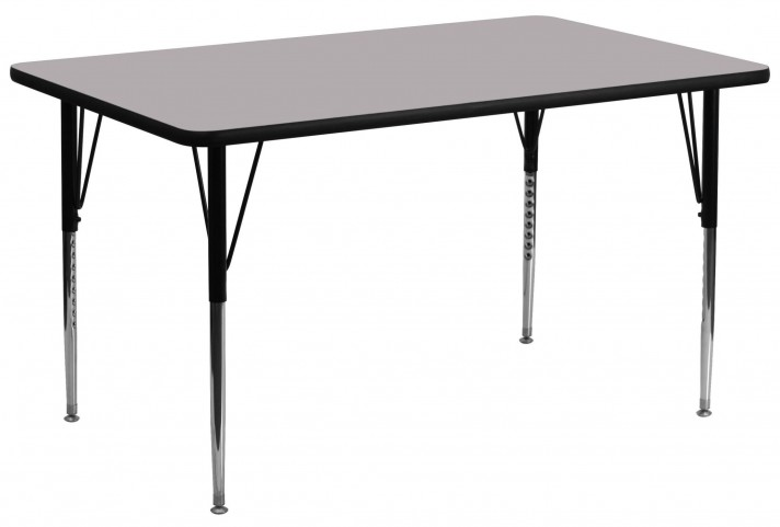 "30""W x 72""L Rectangular Gray Activity Table"