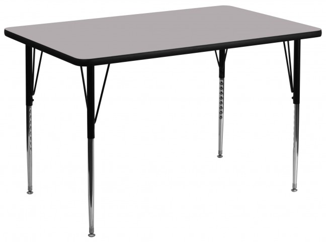 "36""W x 72""L Rectangular Gray Activity Table"