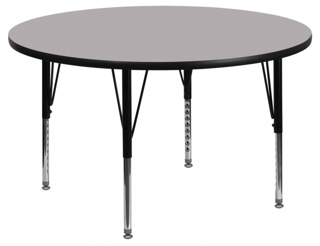 "42"" Round Pre-School Gray Activity Table"