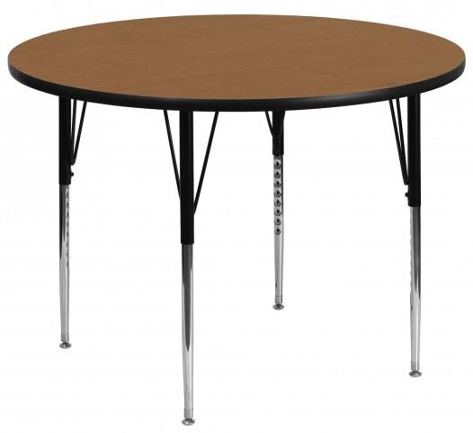 "42"" Round Oak Activity Table"