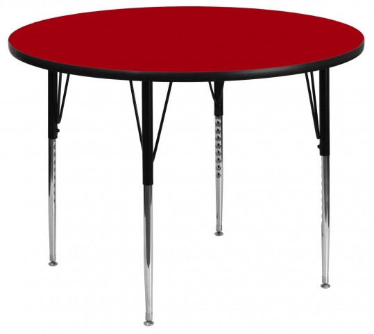 "42"" Round Red Activity Table"