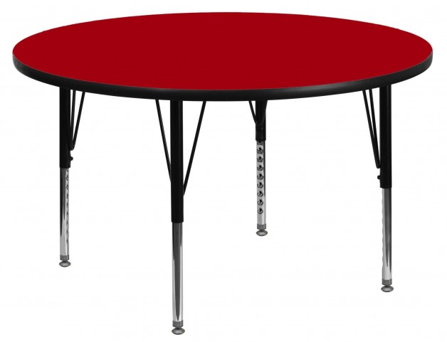 "42"" Round Pre-School Red Activity Table"