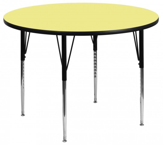 "42"" Round Yellow Activity Table"