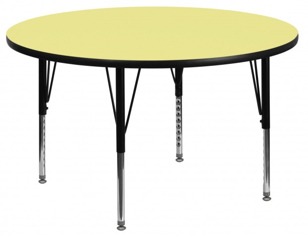 "42"" Round Pre-School Yellow Activity Table"