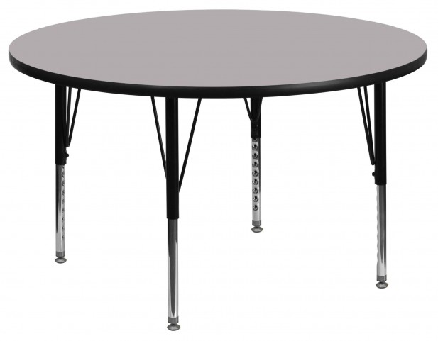 "48"" Round Pre-School Gray Activity Table"