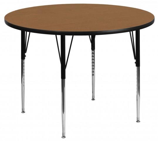 "48"" Round Oak Activity Table"