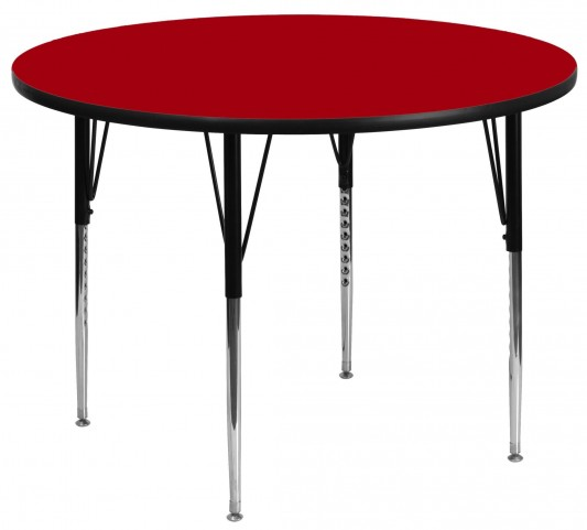 "48"" Round Red Activity Table"