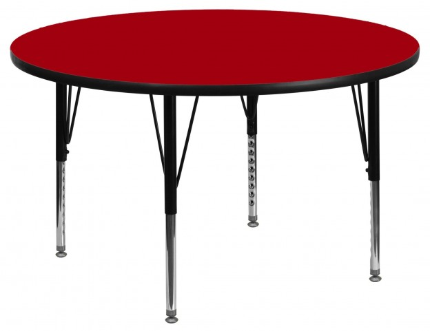 "48"" Round Pre-School Red Activity Table"