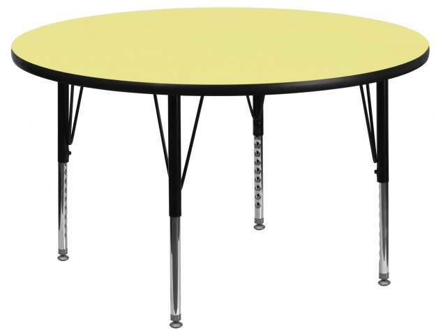 "48"" Round Pre-School Yellow Activity Table"