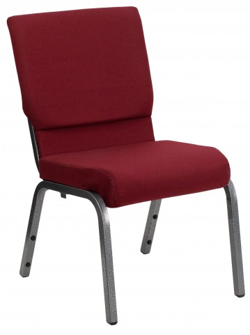 Hercules Series Burgundy Fabric Stacking Church Chair
