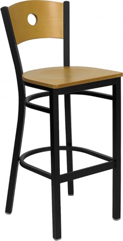 Hercules Black Circle Back Metal Restaurant Bar Stool