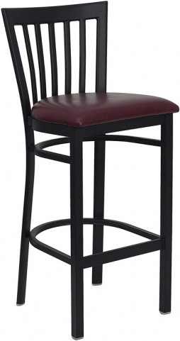 6499 Hercules Black School House Back Metal Restaurant Bar Stool