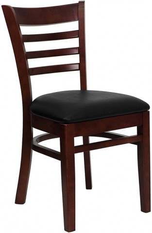 6583 Hercules Mahogany Finished Ladder Back Wooden Restaurant Chair