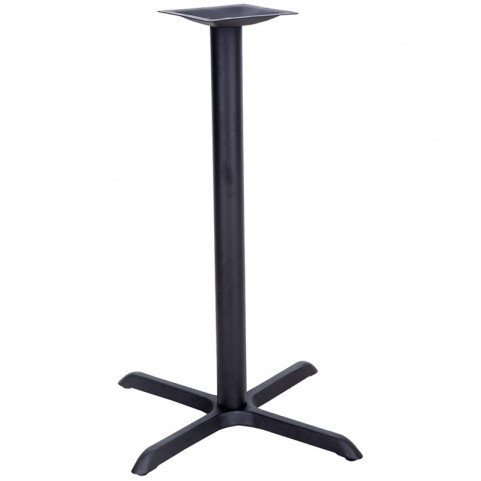 22'' x 30'' Restaurant Table X-Base with 3'' Bar Height Column