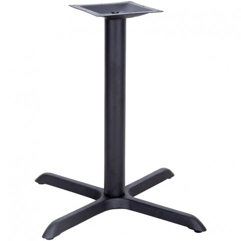 33'' x 33'' Restaurant Table X-Base with 4'' Table Height Column