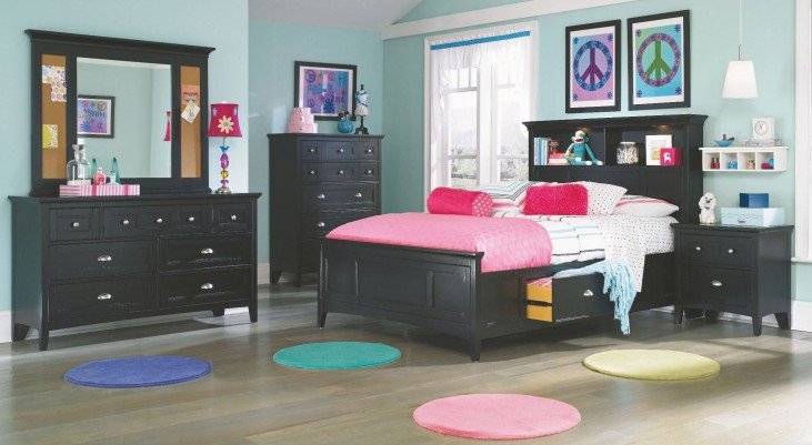Bennett Youth Bookcase Storage Bedroom Set