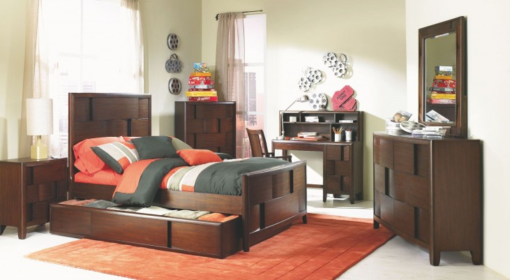 Twilight Trundle Panel Bedroom Set