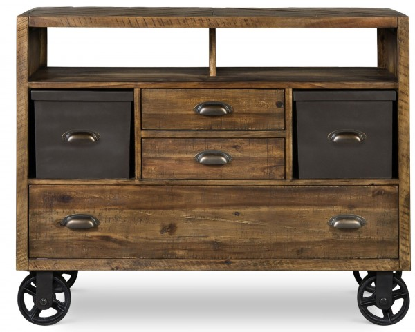 Braxton Media Chest With Casters