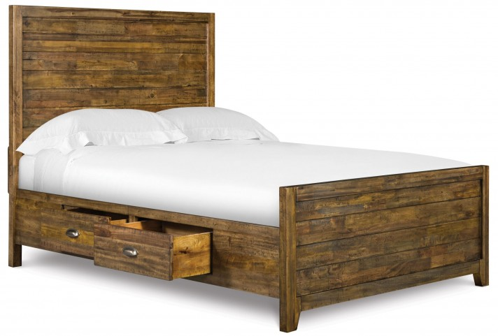 Braxton Full Panel Bed with Storage Rails