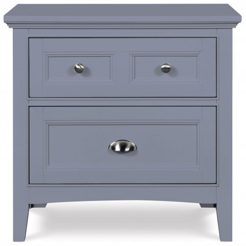 Graylyn Steel Drum Drawer Nightstand