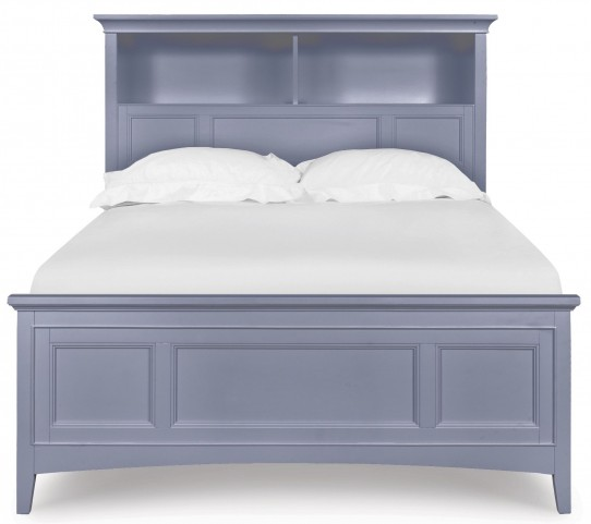Graylyn Steel Drum Twin One Side Storage Bookcase Bed