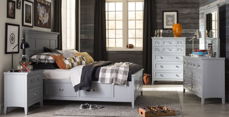 Graylyn Steel Drum Youth Two Side Storage Panel Bedroom Set