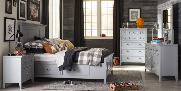 Graylyn Steel Drum Youth One Side Panel Bedroom Set