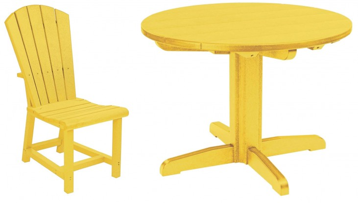 "Generations Yellow 32"" Round Pedestal Dining Room Set"