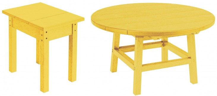 "Generations Yellow 32"" Round Occasional Table Set"