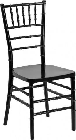 Flash Elegance Black Resin Stacking Chiavari Chair
