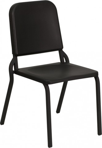 Hercules Series Black High Density Stackable Melody Band/Music Chair