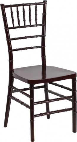 Flash Elegance Mahogany Resin Stacking Chiavari Chair