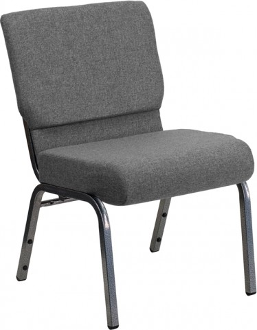 Hercules Series Extra Wide Gray Stacking Church Chair